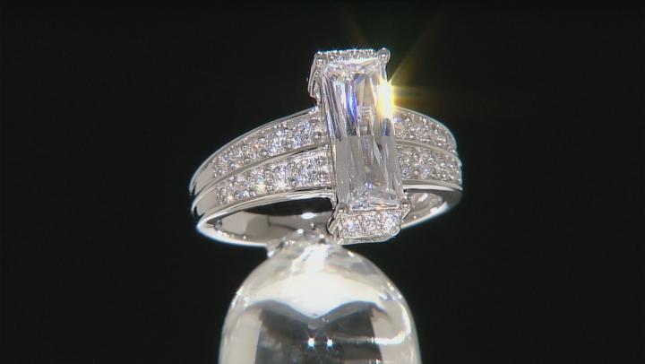 Cubic Zirconia Silver Ring 3.77ctw (2.02ctw DEW)