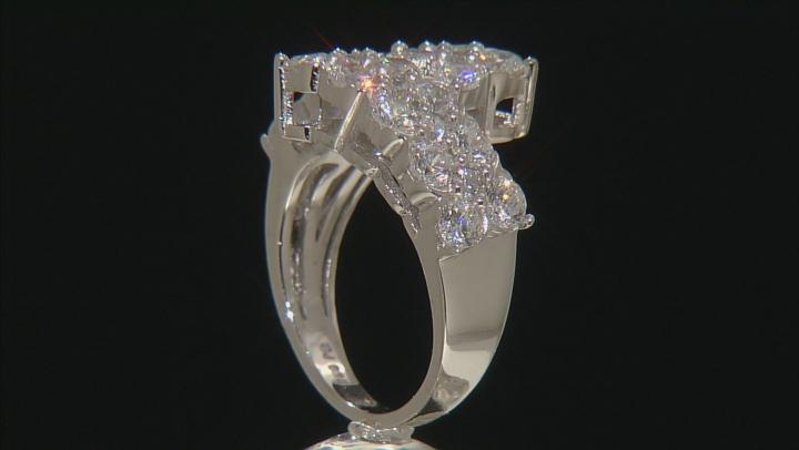 Cubic Zirconia Silver Ring 4.36ctw (2.44ctw DEW)