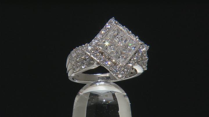 Cubic Zirconia Silver Ring 4.20ctw (2.51ctw DEW)