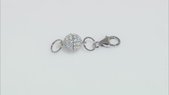 Bella Luce Diamond Simulant Magnetic Clasp Converter Rhodium Over Sterling