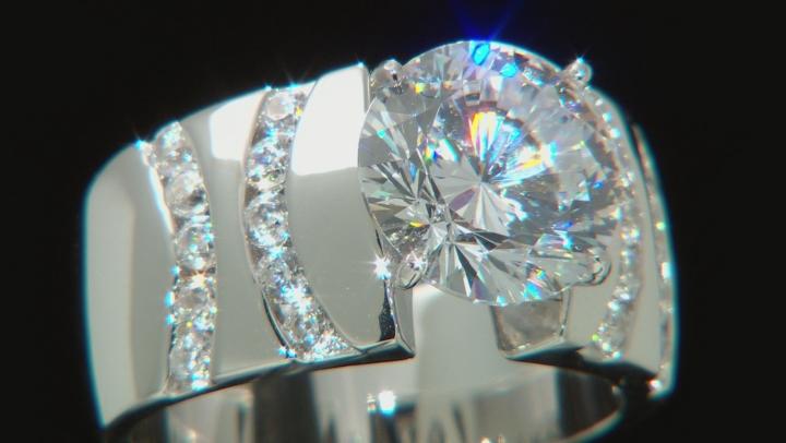 Cubic Zirconia Silver Ring 7.20ctw (4.47ctw DEW)
