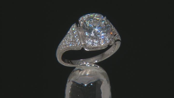 Cubic Zirconia Silver Ring 6.10ctw (3.65ctw DEW)