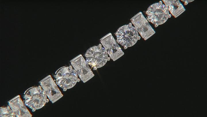 Cubic Zirconia Silver Bracelet 26.89ctw (16.26ctw DEW)