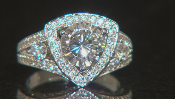 Cubic Zirconia Silver Ring 4.47ctw (2.88ctw DEW)
