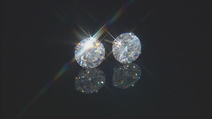 White Cubic Zirconia 10k White Gold Stud Earrings 2.86ctw