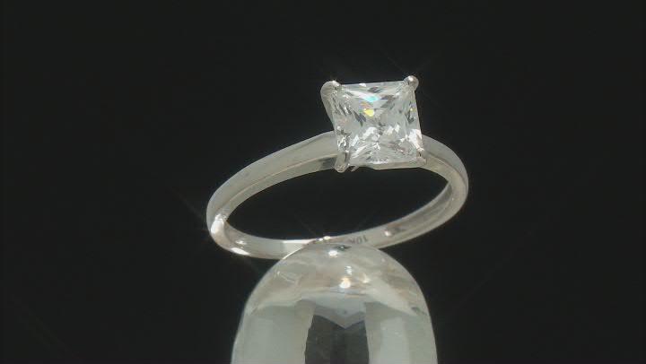 White Cubic Zirconia 10k White Gold Ring 1.75ctw