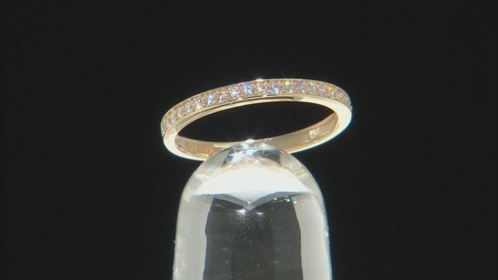 White Cubic Zirconia 10k Yellow Gold Ring 0.23ctw