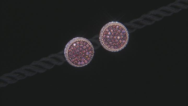Mocha And White Cubic Zirconia 10K Yellow Gold  Earrings 1.64ctw