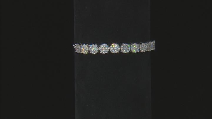White Cubic Zirconia Rhodium Over Sterling Silver Adjustable Bracelet 3.14ctw