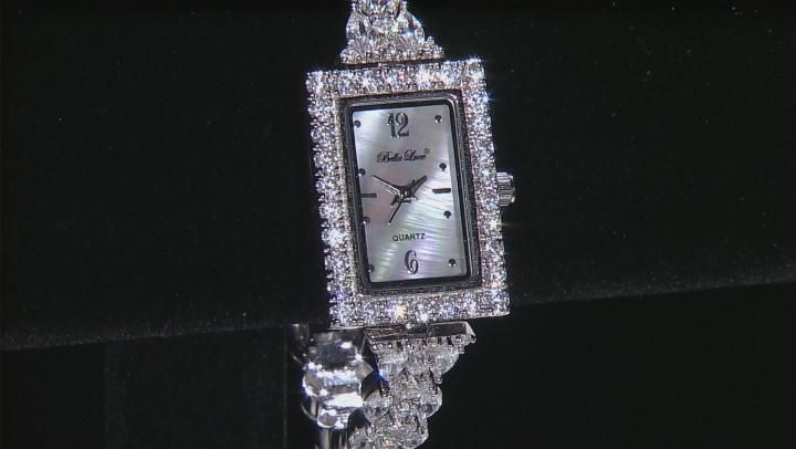 Cubic Zirconia Sterling Silver Watch.