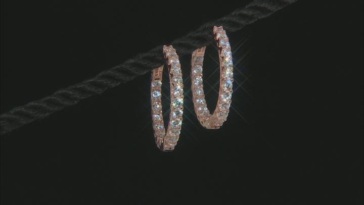 Cubic Zirconia 18K Rose Gold Over Sterling Silver Hoop Earrings 4.00ctw