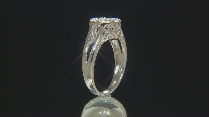 Cubic Zirconia Rhodium Over Sterling Silver Dancing Bella Ring 1.04ctw