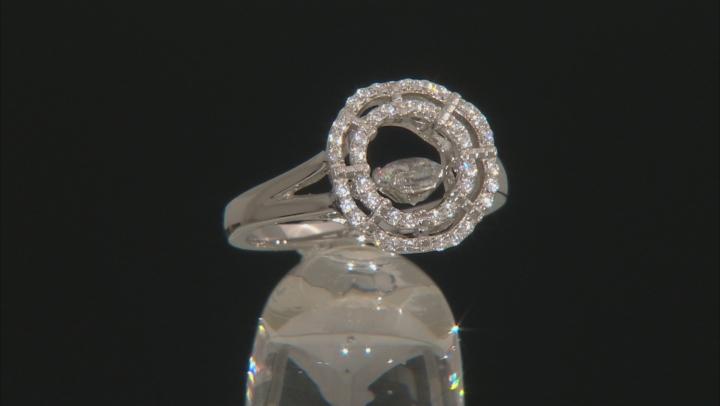 White Cubic Zirconia Rhodium Over Silver Ring 1.11ctw