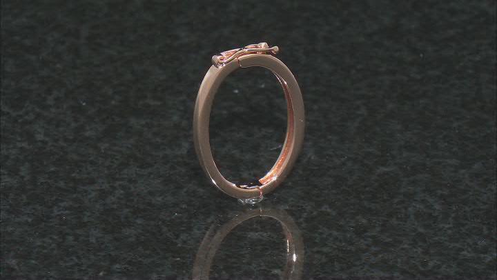 Necklace Shortener Adjuster 22x17mm 18k Rose Gold Over Sterling Silver