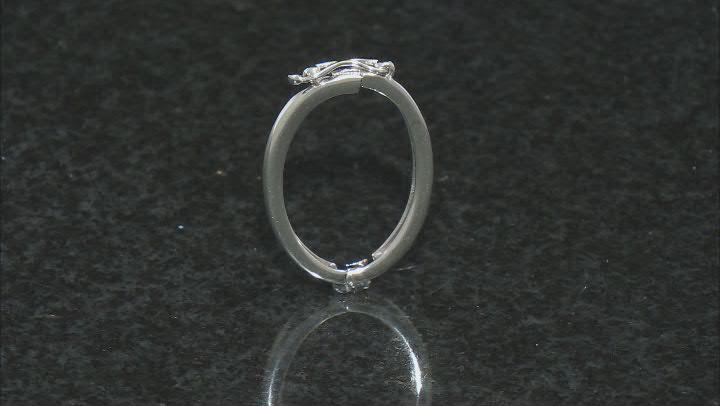 Necklace Shortener Adjuster 22x17mm Rhodium Over Sterling Silver