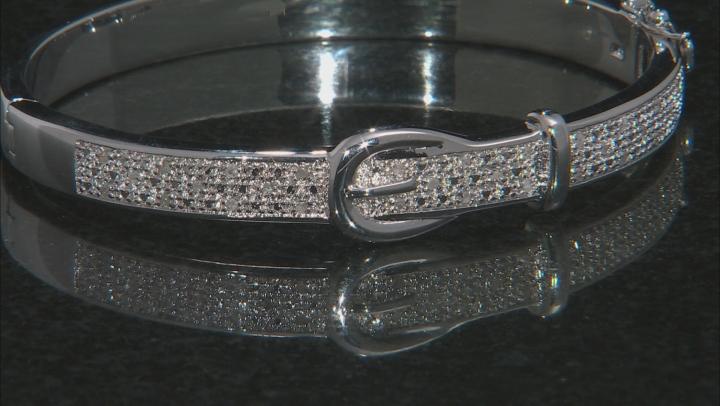 White Round Diamond Rhodium Over Brass Bracelet 0.25ctw