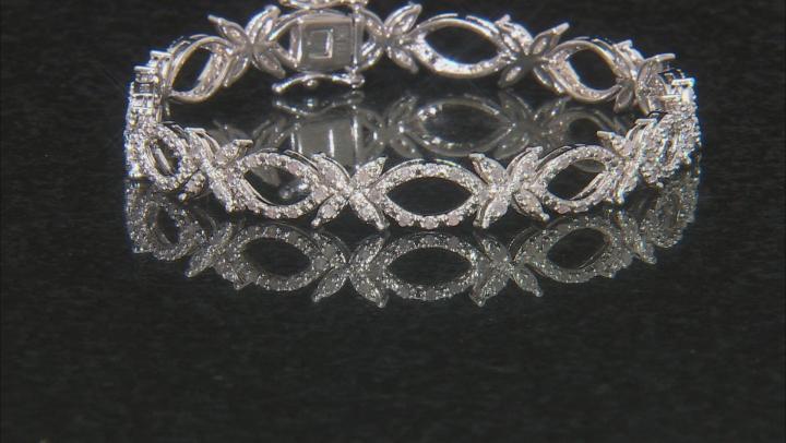 Diamond Rhodium Over Brass Bracelet .64ctw
