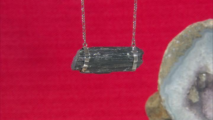Free-Form Tourmaline Titanium Necklace