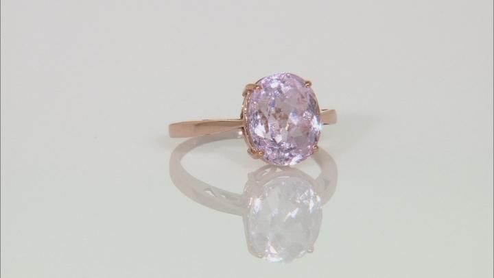 Pink Kunzite 10k Rose Gold Ring 3.52ct