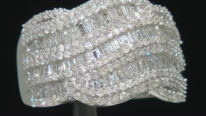 white diamond 10k white gold ring 1.75ctw