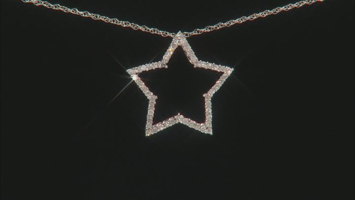 White Diamond 10k White Gold Pendant .20ctw
