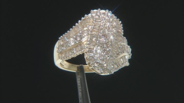 White Diamond 10k Yellow Gold Ring 2.35ctw