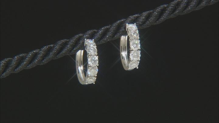White Diamond 10k White Gold Earrings 2.00ctw