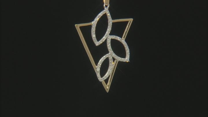 White Diamond 10k Two-Tone Gold Pendant 0.25ctw