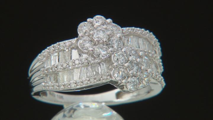 White Diamond 10k White Gold Ring 1.55ctw