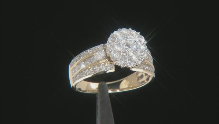 White Diamond 10K Yellow Gold Ring 1.44ctw