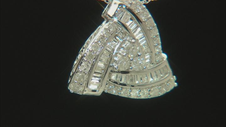 White Diamond 10k White Gold Pendant With Chain 1.00ctw