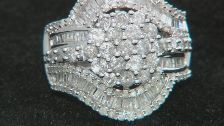 White Diamond 10k White Gold Ring 2.50ctw