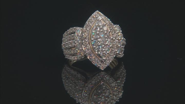 White Diamond 10k Yellow Gold Ring 3.00ctw