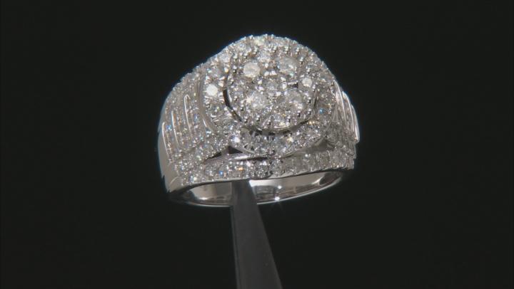 White Diamond 10k White Gold Ring 3.20ctw