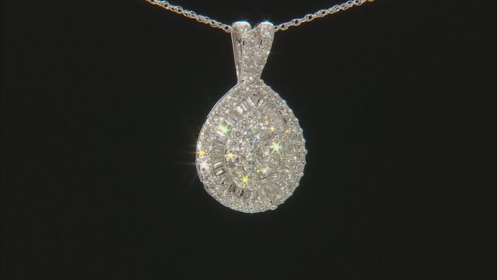 White Diamond 10k White Gold Pendant 0.75ctw