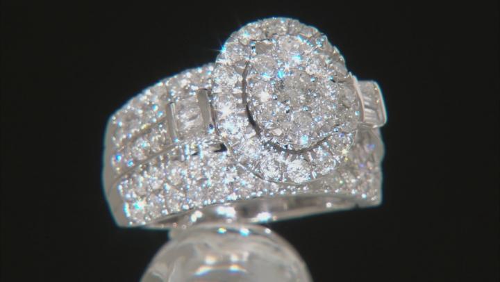 White Diamond 10k White Gold Ring 3.00ctw