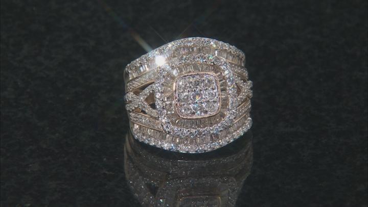 White Diamond 10k Yellow Gold Ring 1.95ctw