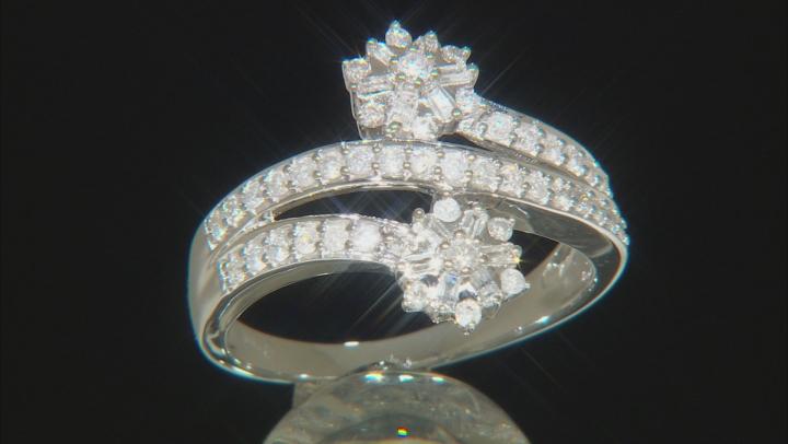 White Diamond 10k White gold Ring 0.52ctw