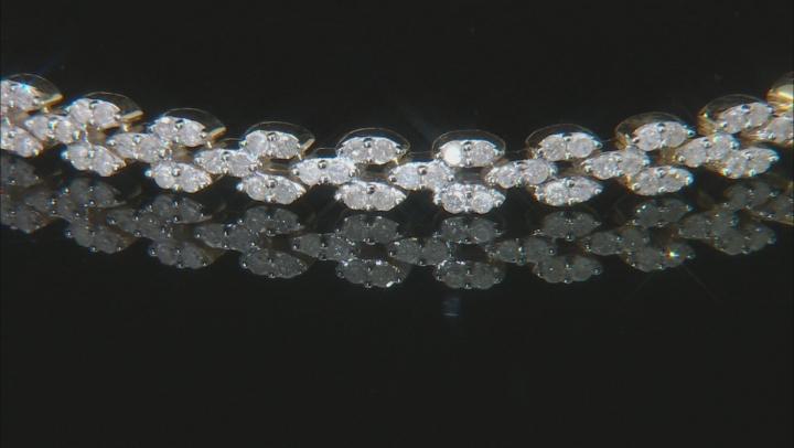 White Diamond 10K Yellow Gold Bracelet 2.27ctw