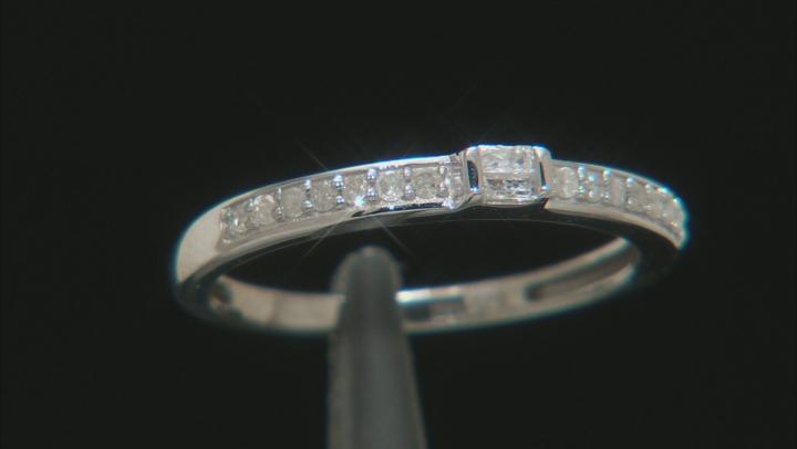 White Diamond 10k White Gold Ring .15ctw