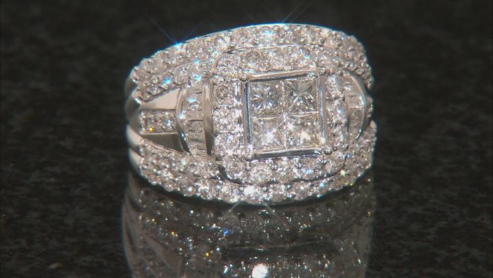 White Diamond 10k White Gold Ring 2.30ctw