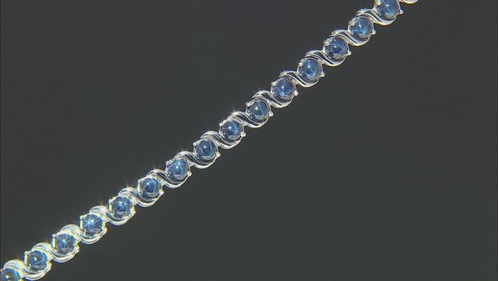 Blue Star Sapphire Rhodium Over Sterling Silver Bracelet 16.69ctw.