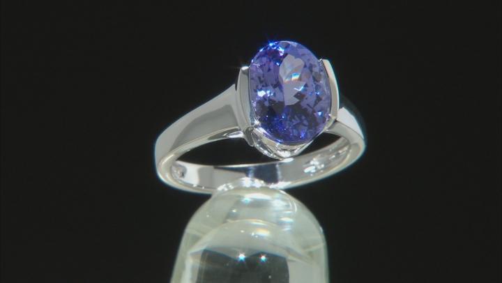 Blue Tanzanite 14k White Gold Ring 2.90ct