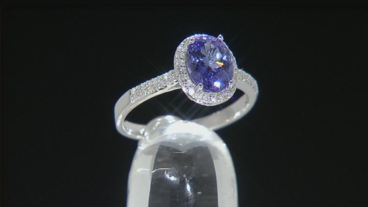 Blue Tanzanite 14k White Gold Ring 1.70ctw