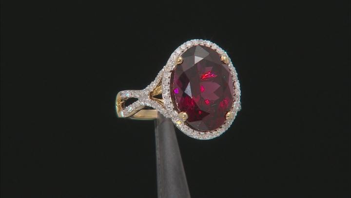 Grape Color Garnet 14k Yellow Gold Ring 8.32ctw