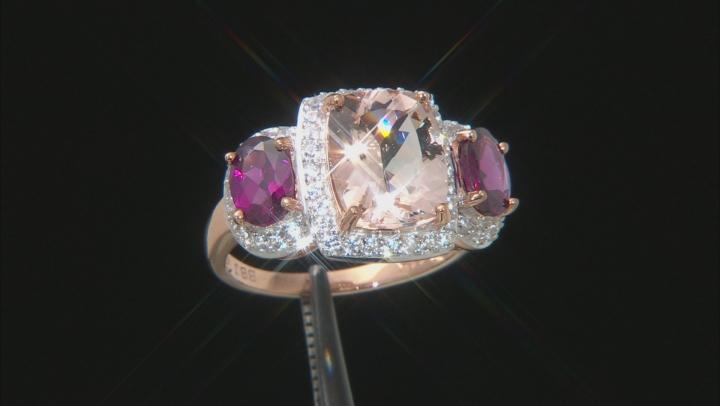 Pink Morganite 14k Rose Gold Ring 5.06ctw