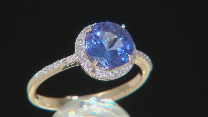 Blue Tanzanite 14k Yellow Gold Ring 2.07ctw