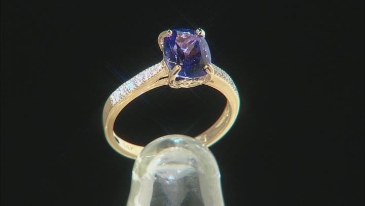 Blue Tanzanite 14k Yellow Gold Ring 2.06ctw