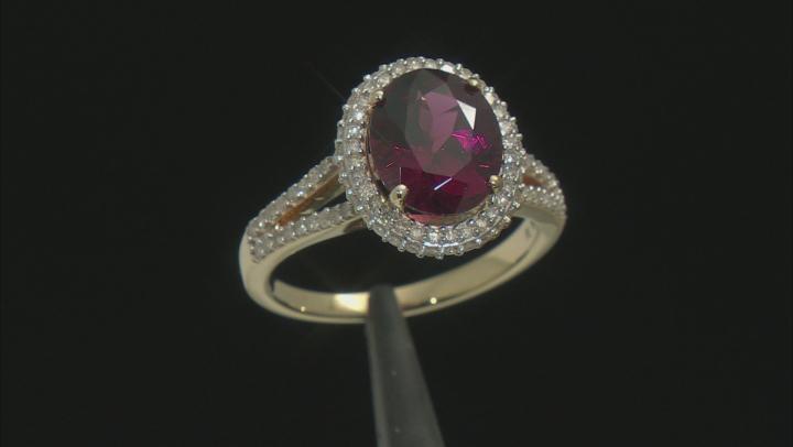 Grape Color Garnet 14k Yellow Gold Ring 4.14ctw