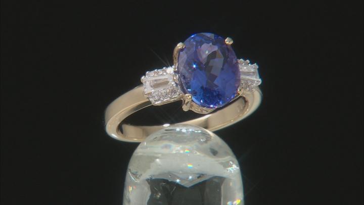 Blue Tanzanite 14K Yellow Gold Ring 2.74ctw